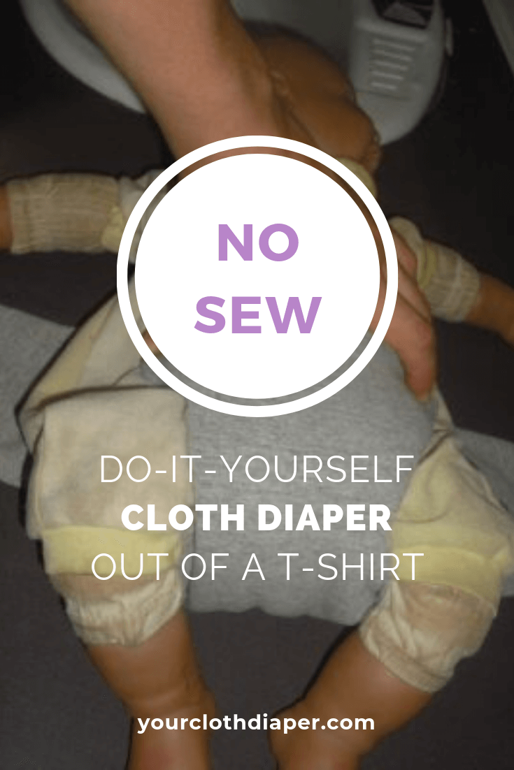 No Sew Cloth Diiaper Out Of Shirt 3