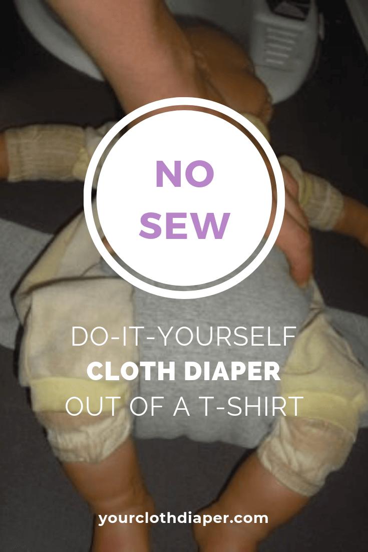 No Sew Cloth Diiaper Out Of Shirt 3