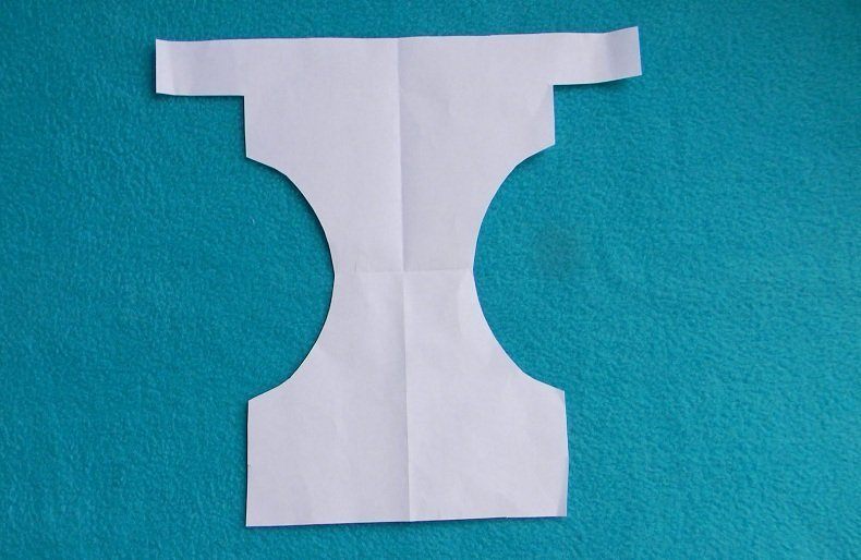 Diy Cloth Diaper Tracing Outline Of Diaper