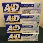 A D Diaper Rash Cream Zinc Oxide
