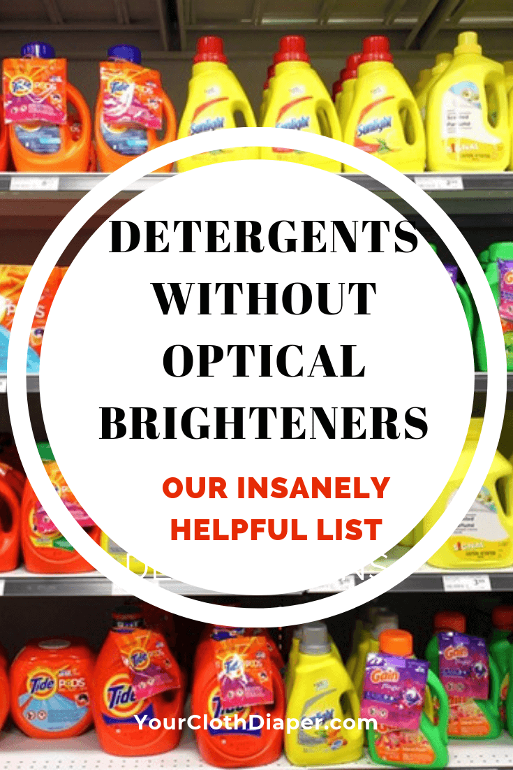 Detergents Without Optical Brighteners