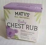 Matys All Natural Baby Chest Rub 150oz Each