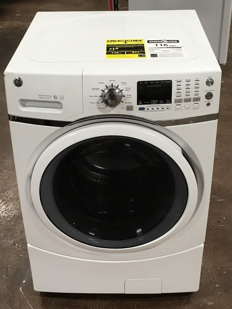 Ge Gfw450ssmww Front Load Steam Cloth Diaper Washer