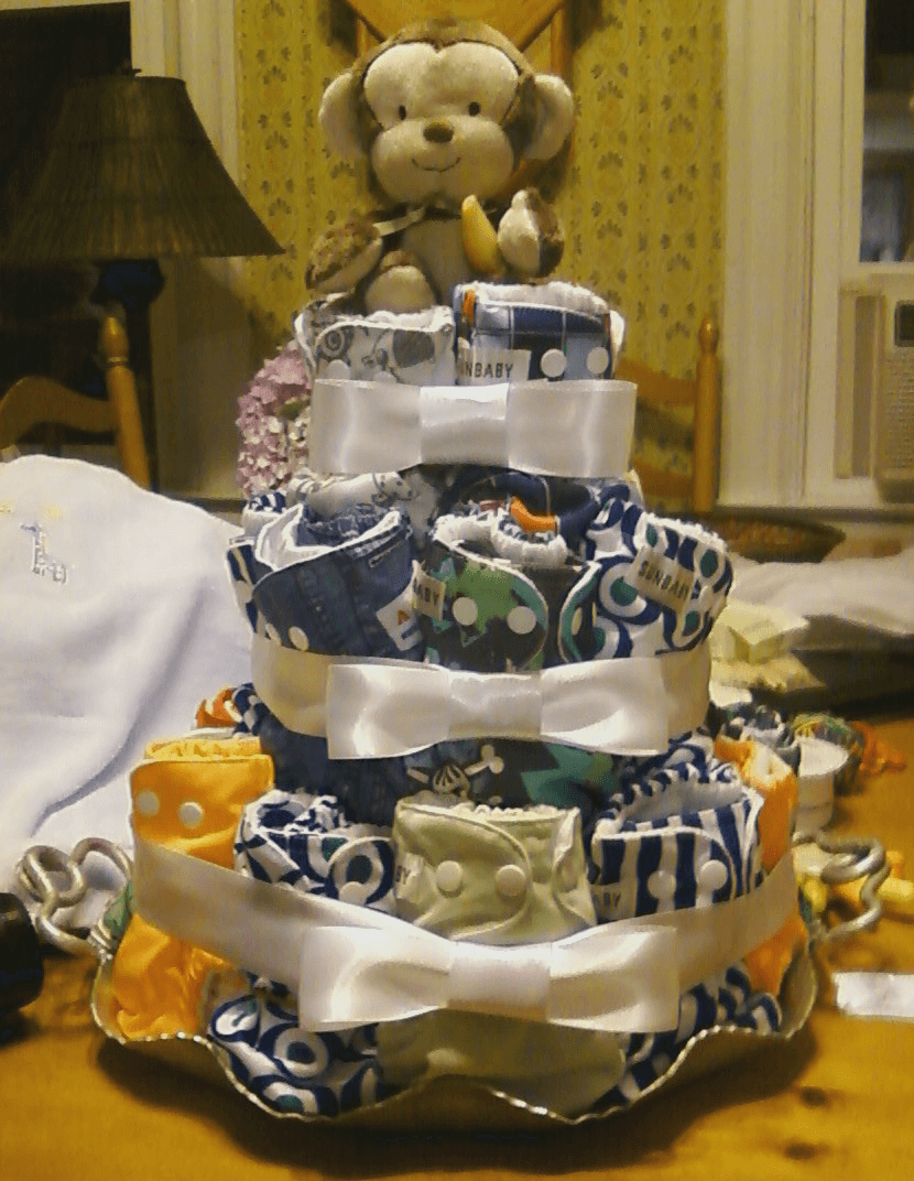 Cloth Diaper Cake 2