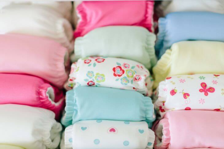 A Lot Of Cloth Diapers Different Colors