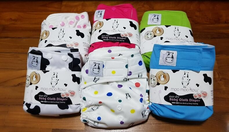 Moo Moo Cow Cloth Diaper 1