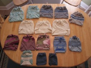 Wool Diaper Inserts and Covers