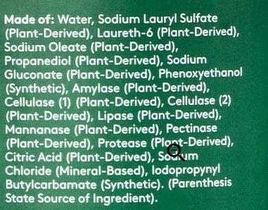 Target Free Clear Everspring Detergent Ingredients
