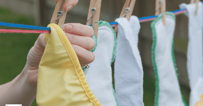 Hanging Cloth Diapers To Dry | Your Cloth Diaper