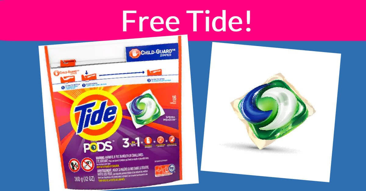 Free Cloth Diaper Laundry Detergent Sample Tide