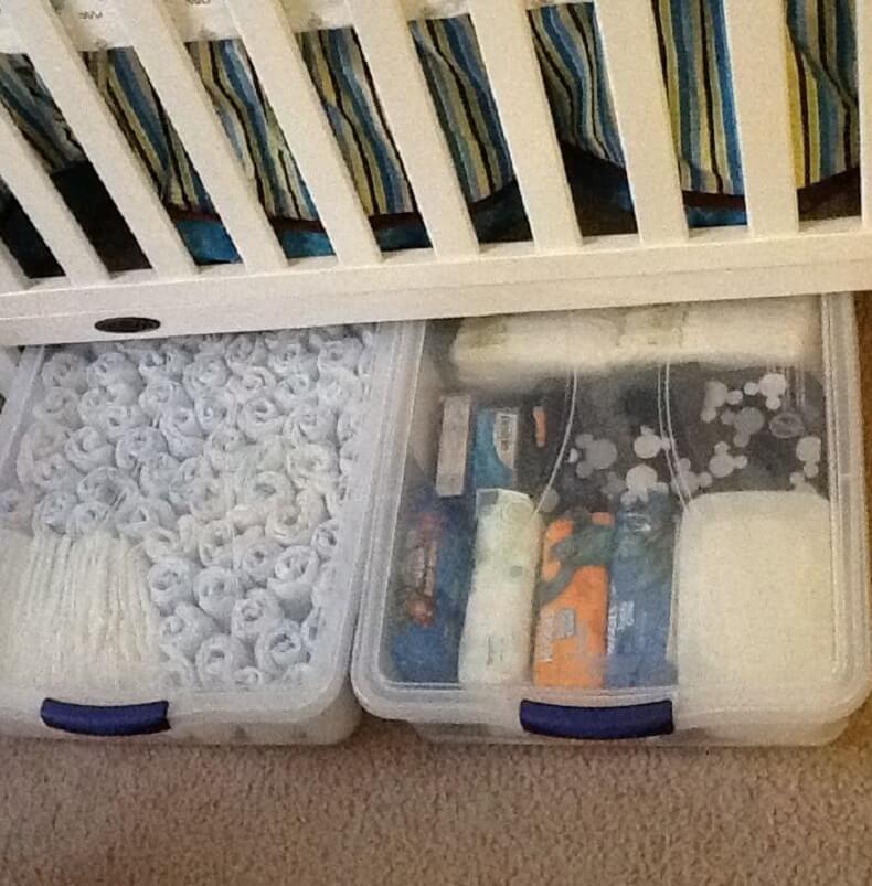 Cloth Diaper Storage Ideas Underbed