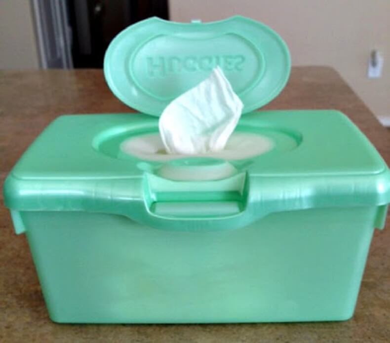 Homemade Cloth Wipes Container