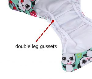 What is a double gusset cloth diaper?