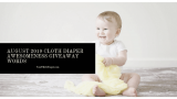 August 2019 Cloth Diaper Awesomeness Giveaway Words